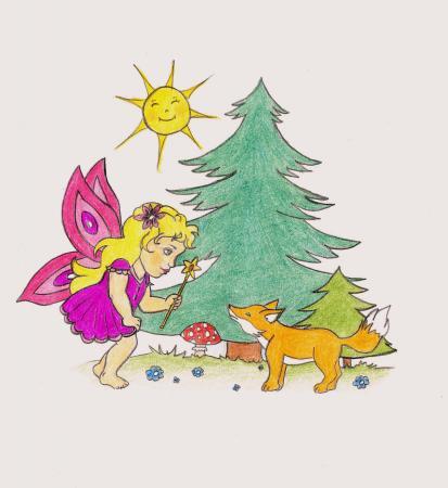 Obrázok Víla Amy-ilustrácia ZIMMET. Ďakujem.