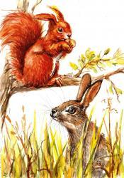b5b9559b3 Jedného rána, v hlbokom lese, niečo vytrhlo veveričku zo zamyslenia. Práve  ohrýzala posledný oriešok a pozerala sa smerom zo stromu, kto ju to zase  vyrušuje ...